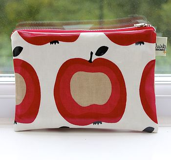 White Apple Cosmetic Bag