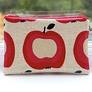 Oat Apple Cosmetic Bag