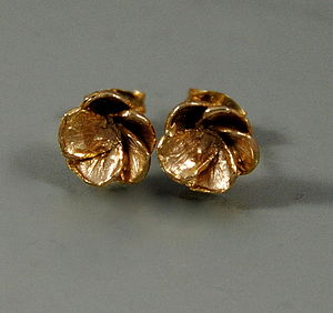Gold Blossom Stud Earrings