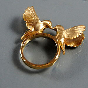 Gold Bird Ring