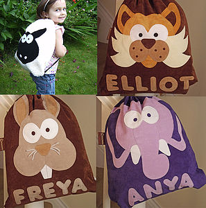 Personalised Teeny Beanie Nursery Bags - bags, purses & wallets