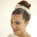 Silk Bow With Birdcage Veil