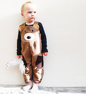 Boy's Bear Dungarees - animal inspired