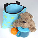 Spots Print Child's Scooter Or Bike Bag Inside