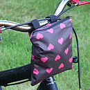 Hearts Print Child's Scooter Or Bike Bag Bike