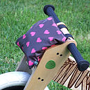 Hearts Print Child's Scooter Or Bike Bag Balance Bike