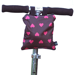 Heart Print Child's Scooter Or Bike Bag
