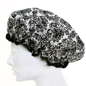 Damask Shower Cap - bathroom
