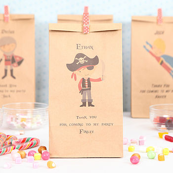 Personalised Pirate Party Bag