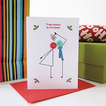 'Mistletoe' Personalised Christmas Card