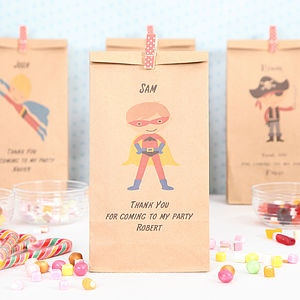 Personalised Superhero Party Bags - shop by price