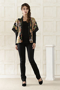 Stella Rose Printed Silk Shrug - jackets & coats