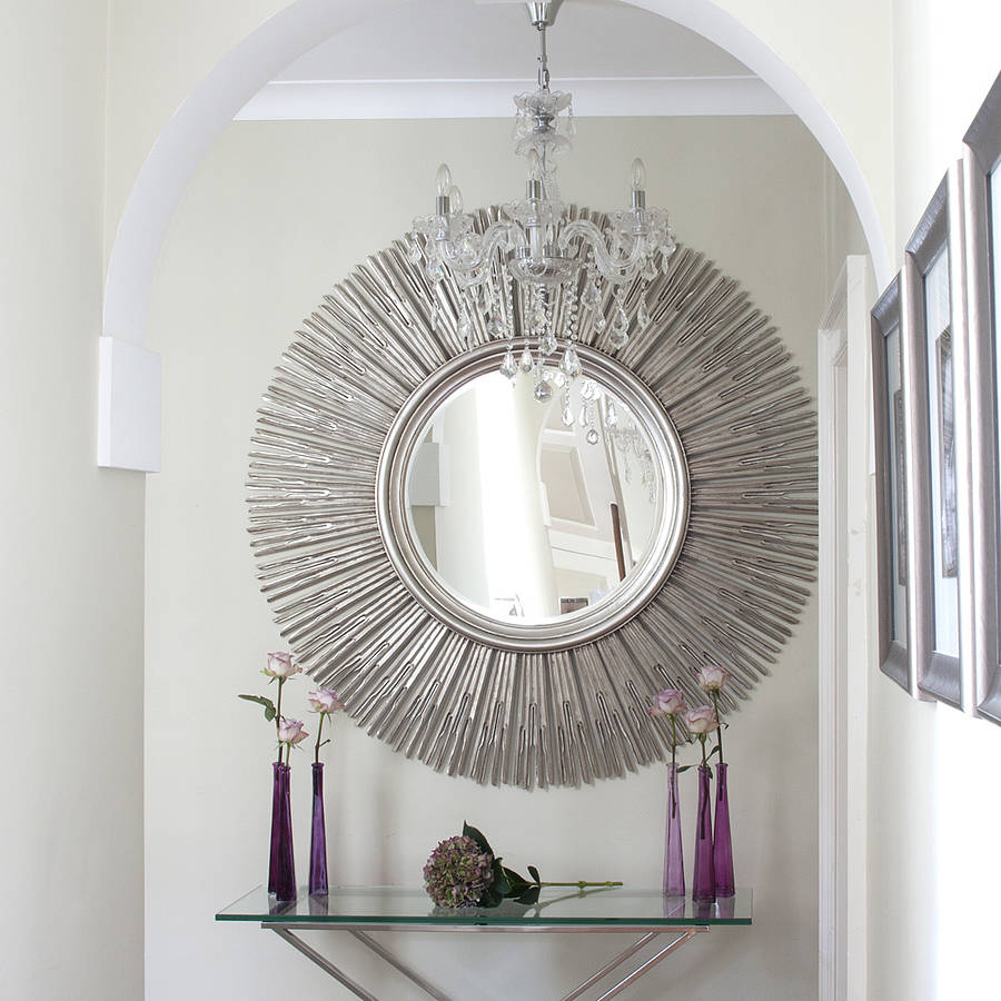 Inca contemporary sun mirror by decorative mirrors online for Mirror decor