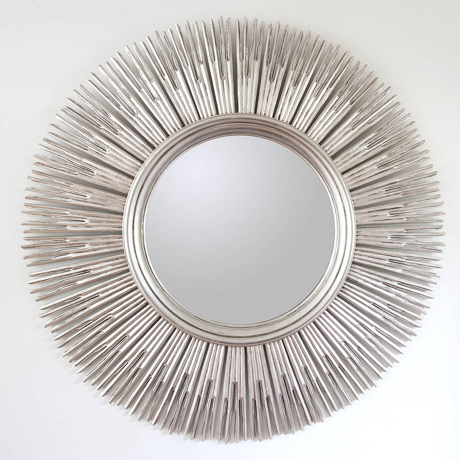 Inca contemporary sun mirror by decorative mirrors online for Fancy mirror