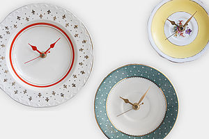 Vintage Plate Clock - home accessories