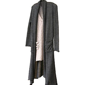 Alpaca Long Cardigan Housecoat - jumpers & cardigans