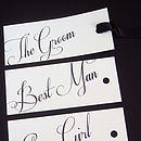 Pretty Penny Name Tags with Ribbon