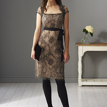 Olivia Lace Dress: soft black