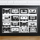 Betsy's A3 Black frame and black mount - Cassette Print