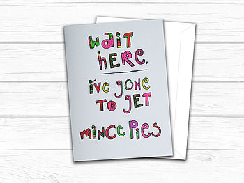 Mince Pies Christmas Card