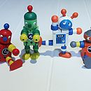 Wooden Retro Flexible Robot Full Set