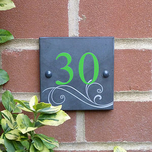 Personalised Slate House Number Sign