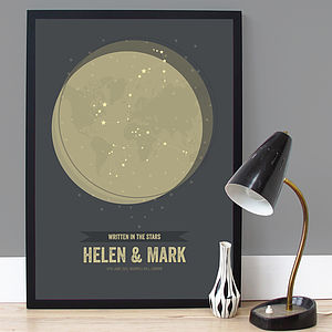 Personalised Star Signs Couples Print - best wedding gifts