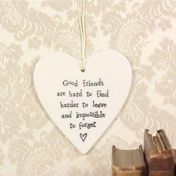 'Good Friends' Porcelain Heart