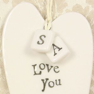 Porcelain Square Letters - room decorations