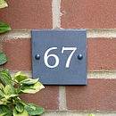 Personalised Flush Slate House Sign