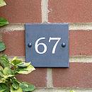 Personalised Flush Slate House Sign