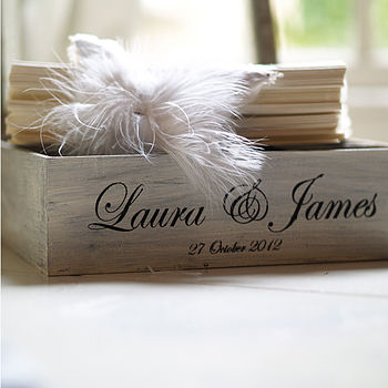 Personalised Wedding Favour And Keepsake Box