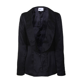 Shawl Collar Silk Blazer