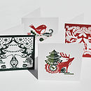 Folk Christmas Cards Set Of Four
