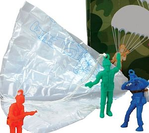Set Of Three Traditional Flying Parachute Men - games