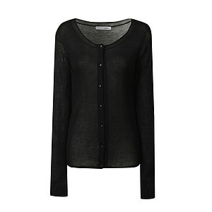 Scoop Neck Cardigan - fashion sale