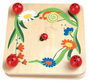 Wooden Flower Press With Ladybird Design - games