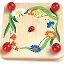 Thumb wooden flower press with ladybird design