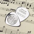 Personalised Sterling Silver Plectrum Gift