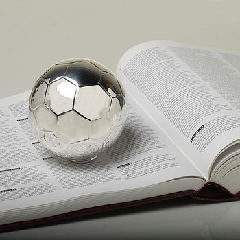 Silver Football Paperweight