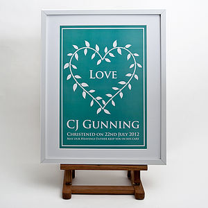 Personalised Christening Or Baptism Print - christening gifts
