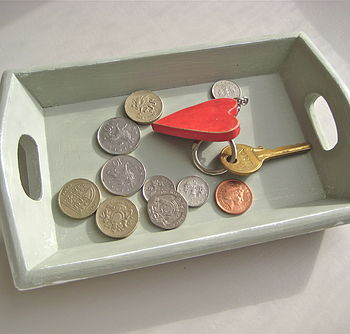 Vintage Painted Coin Tray