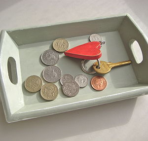 Vintage Painted Coin Tray - women's jewellery