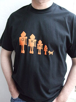 Men's Personalised Robot Family T Shirt