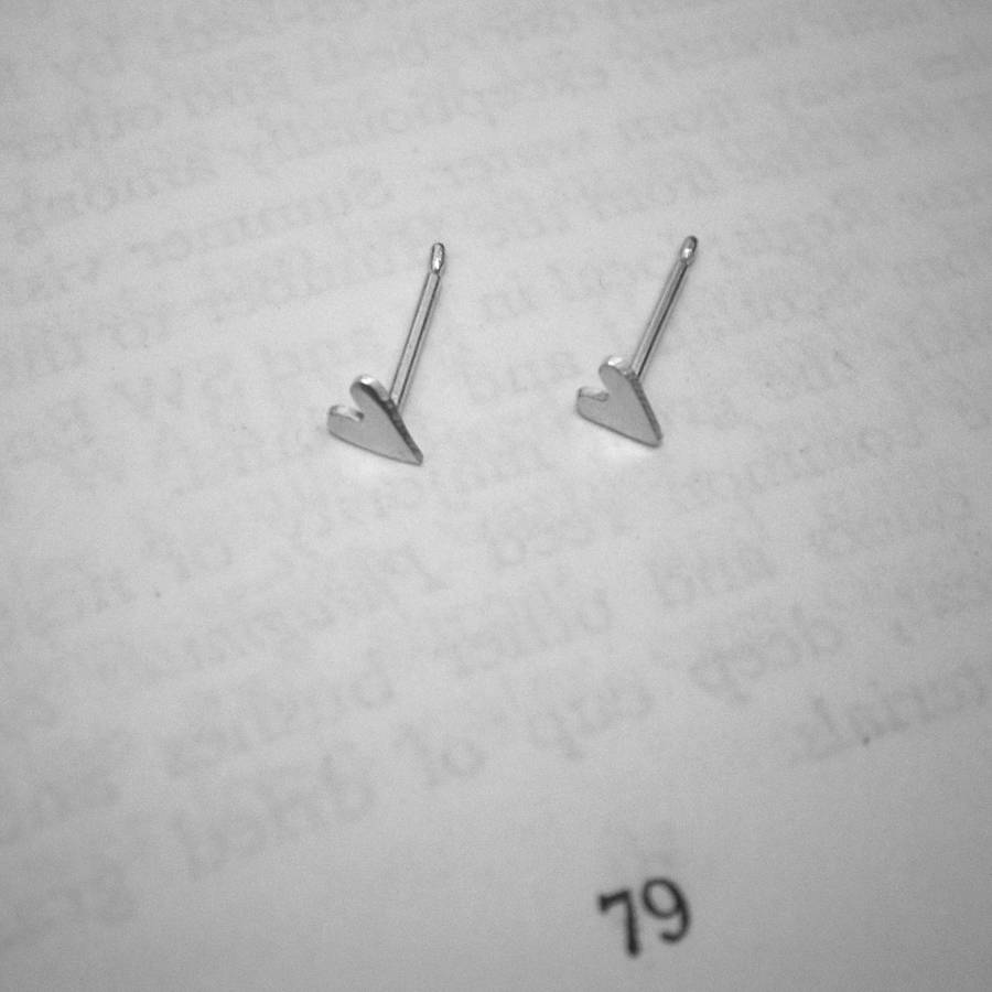 9c3da6fe2002 tiny silver heart stud earrings by cathy newell price jewellery ...