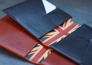 Men's Personalised Leather Wallet: Union Flag - wallets & money clips