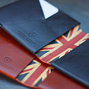 Men's Personalised Leather Wallet: Union Flag
