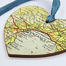 Map Location Hanging Heart Keepsake