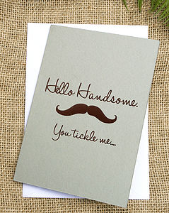 Moustache Greetings Card
