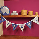 Personalised Blue Name Bunting with Star Motif